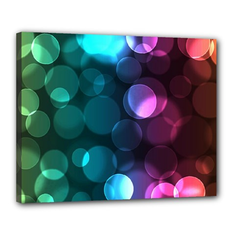 Deep Bubble Art Canvas 20  x 16  (Framed)