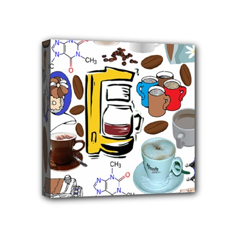 Just Bring Me Coffee Mini Canvas 4  X 4  (framed)