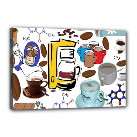 Just Bring Me Coffee Canvas 18  x 12  (Framed)