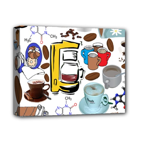Just Bring Me Coffee Deluxe Canvas 14  x 11  (Framed)
