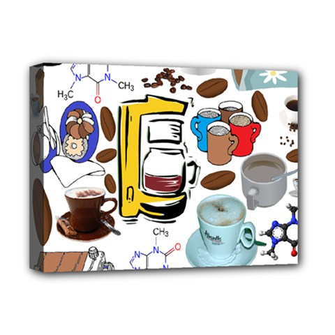 Just Bring Me Coffee Deluxe Canvas 16  X 12  (framed)