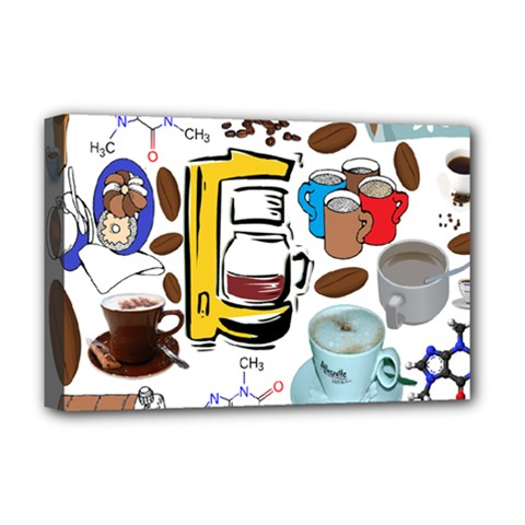 Just Bring Me Coffee Deluxe Canvas 18  X 12  (framed)