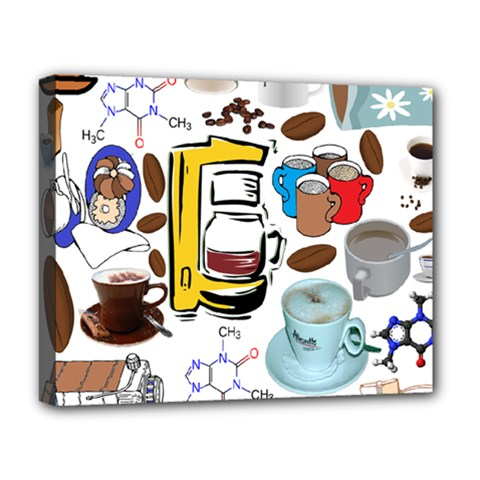Just Bring Me Coffee Deluxe Canvas 20  x 16  (Framed)