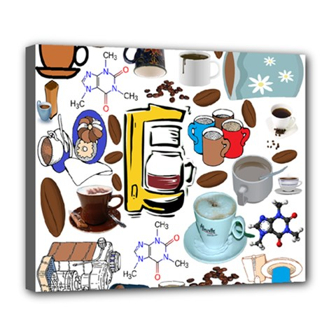 Just Bring Me Coffee Deluxe Canvas 24  x 20  (Framed)