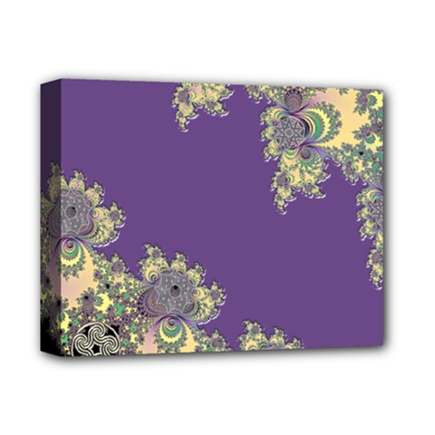 Purple Symbolic Fractal Deluxe Canvas 14  X 11  (framed)