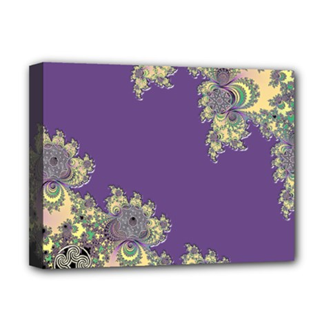 Purple Symbolic Fractal Deluxe Canvas 16  x 12  (Framed)