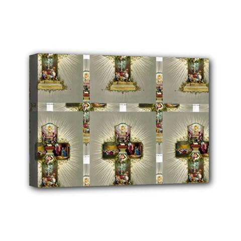 Easter Cross Mini Canvas 7  x 5  (Framed)