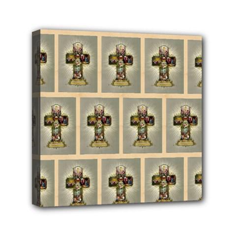 Easter Cross Mini Canvas 6  x 6  (Framed)