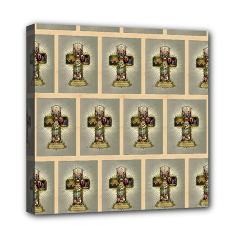 Easter Cross Mini Canvas 8  x 8  (Framed)