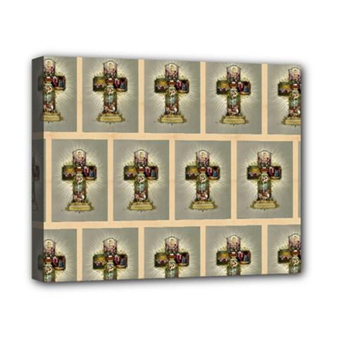 Easter Cross Canvas 10  x 8  (Framed)