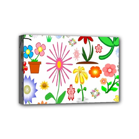 Summer Florals Mini Canvas 6  x 4  (Framed)
