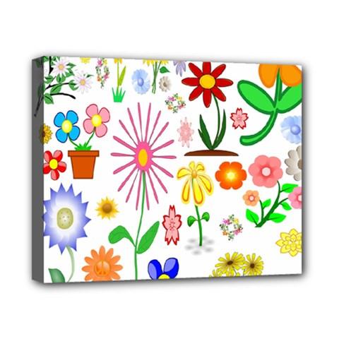 Summer Florals Canvas 10  x 8  (Framed)