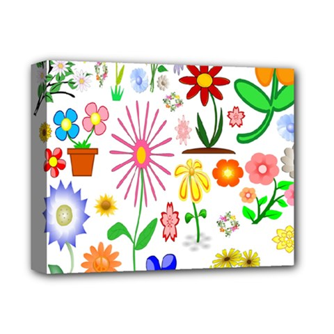 Summer Florals Deluxe Canvas 14  x 11  (Framed)