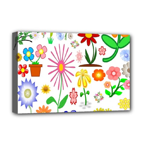 Summer Florals Deluxe Canvas 18  x 12  (Framed)