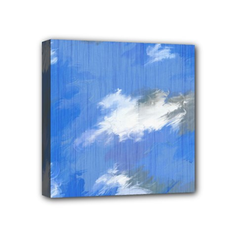 Abstract Clouds Mini Canvas 4  X 4  (framed)
