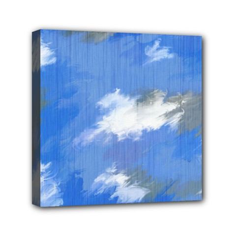 Abstract Clouds Mini Canvas 6  x 6  (Framed)