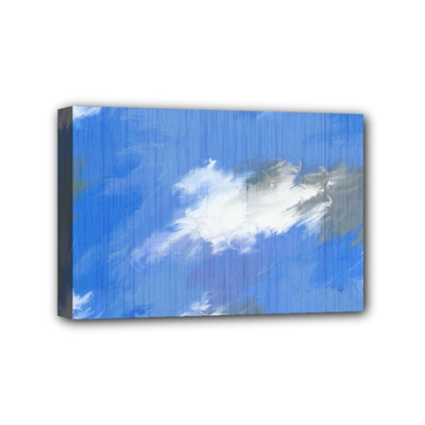 Abstract Clouds Mini Canvas 6  X 4  (framed)
