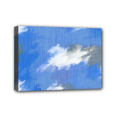 Abstract Clouds Mini Canvas 7  x 5  (Framed)