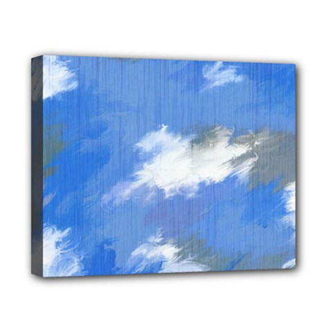 Abstract Clouds Canvas 10  X 8  (framed)