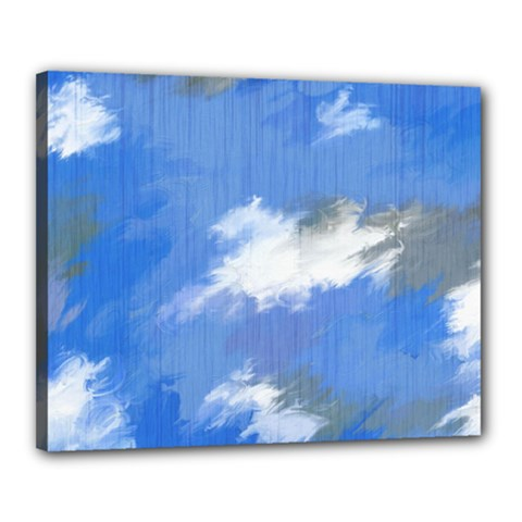 Abstract Clouds Canvas 20  x 16  (Framed)