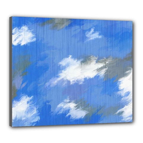 Abstract Clouds Canvas 24  x 20  (Framed)