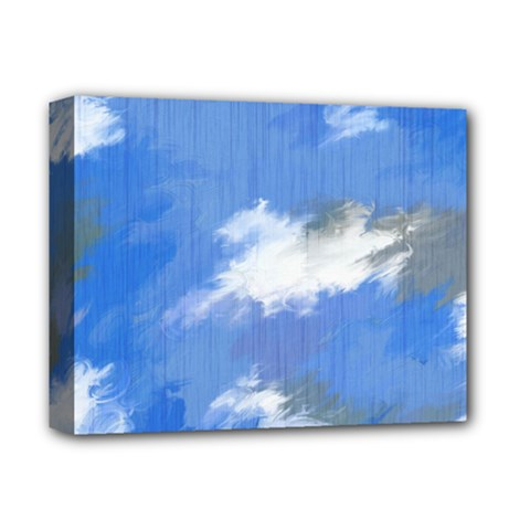 Abstract Clouds Deluxe Canvas 14  X 11  (framed)