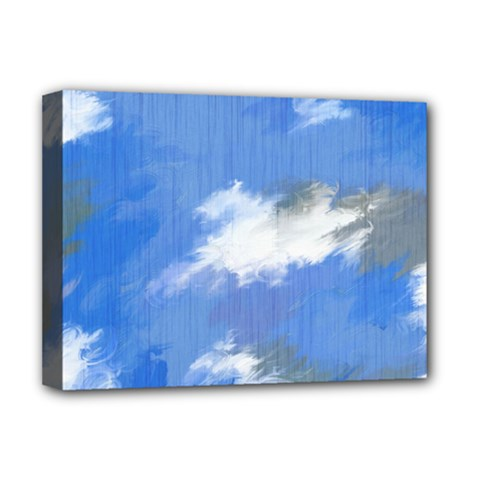Abstract Clouds Deluxe Canvas 16  x 12  (Framed)