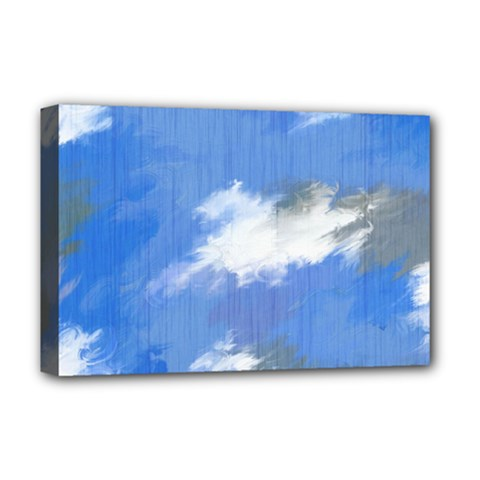 Abstract Clouds Deluxe Canvas 18  x 12  (Framed)