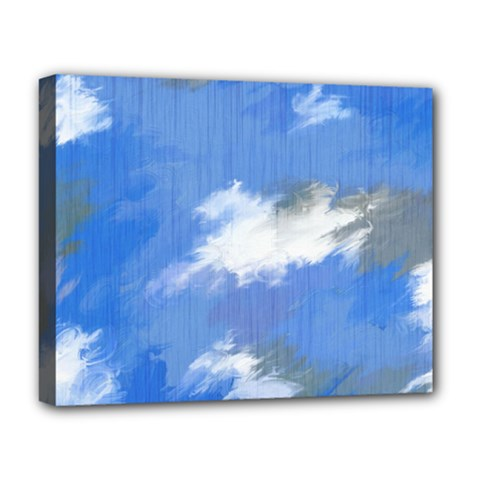 Abstract Clouds Deluxe Canvas 20  X 16  (framed)