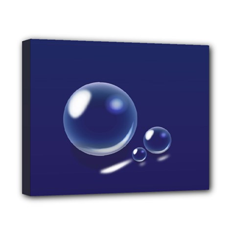 Bubbles 7 Canvas 10  X 8  (framed)