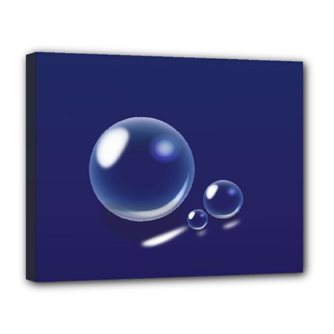 Bubbles 7 Canvas 14  X 11  (framed)