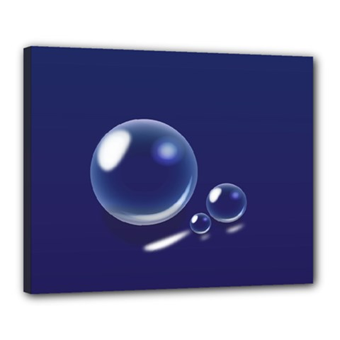 Bubbles 7 Canvas 20  X 16  (framed)
