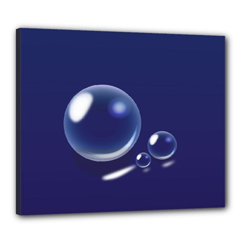 Bubbles 7 Canvas 24  x 20  (Framed)