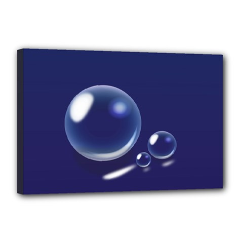 Bubbles 7 Canvas 18  x 12  (Framed)