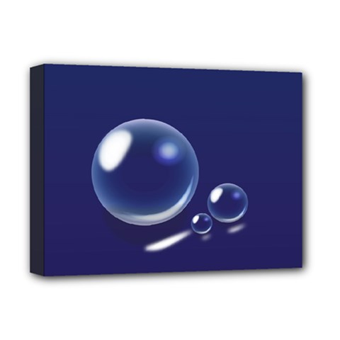 Bubbles 7 Deluxe Canvas 16  x 12  (Framed)
