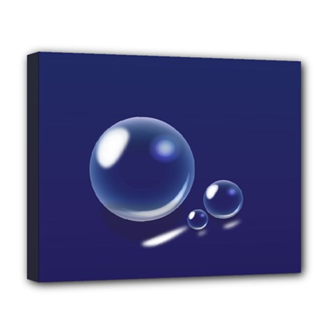 Bubbles 7 Deluxe Canvas 20  X 16  (framed)