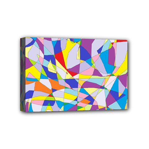 Fractured Facade Mini Canvas 6  x 4  (Framed)