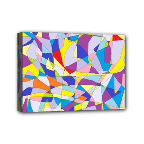 Fractured Facade Mini Canvas 7  x 5  (Framed)