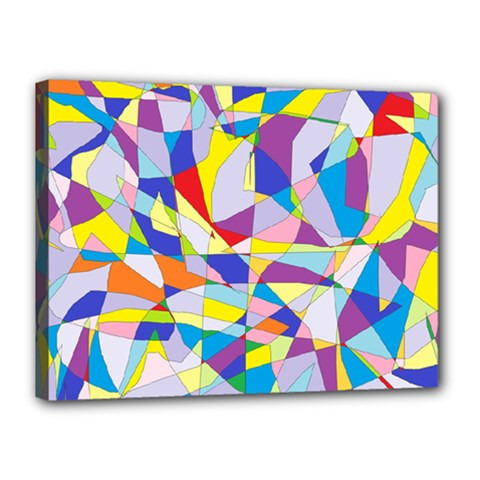 Fractured Facade Canvas 16  x 12  (Framed)