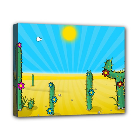 Cactus Canvas 10  x 8  (Framed)
