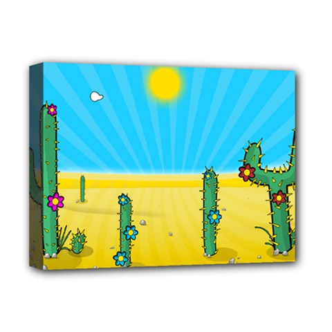 Cactus Deluxe Canvas 16  x 12  (Framed)