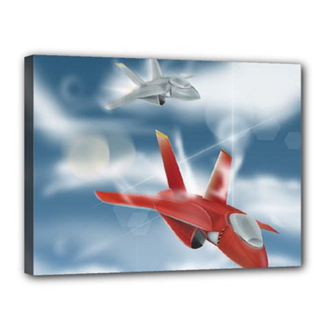 America Jet fighter Air Force Canvas 16  x 12  (Framed)