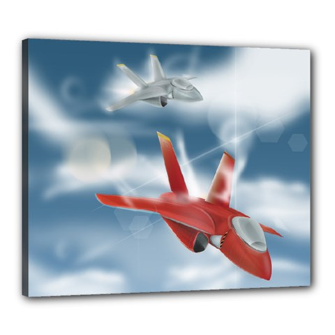 America Jet fighter Air Force Canvas 24  x 20  (Framed)