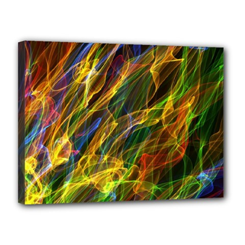 Colourful Flames  Canvas 16  x 12  (Framed)
