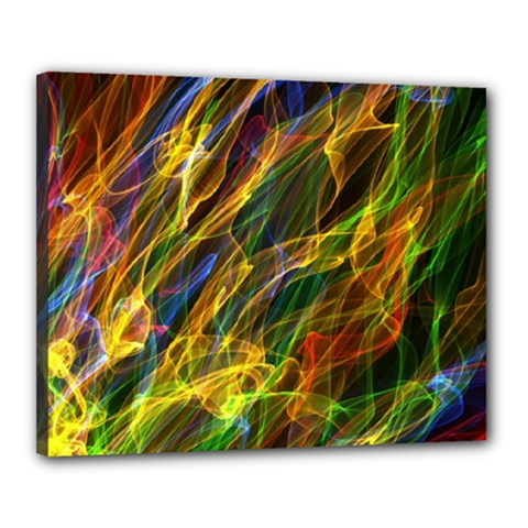 Colourful Flames  Canvas 20  x 16  (Framed)