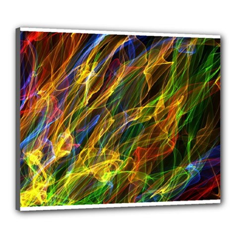 Colourful Flames  Canvas 24  x 20  (Framed)