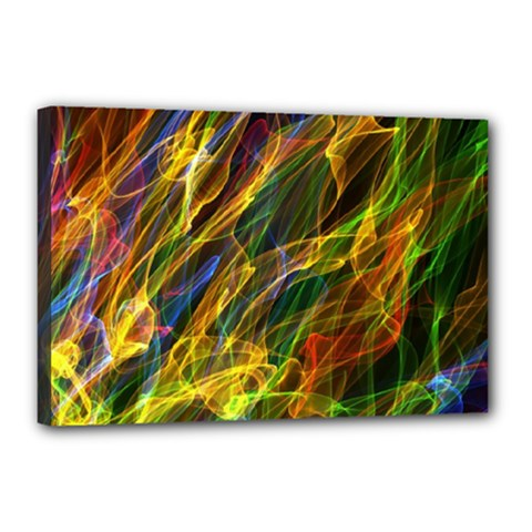 Colourful Flames  Canvas 18  x 12  (Framed)