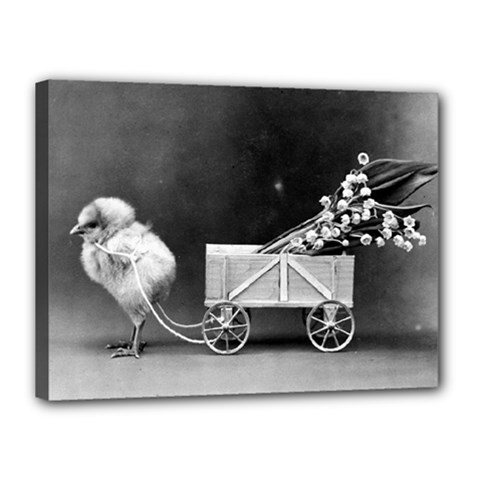 Victorian Easter Canvas 16  x 12  (Framed)