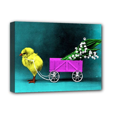 Victorian Easter Deluxe Canvas 16  x 12  (Framed)