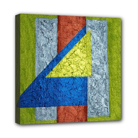 Abstract Mini Canvas 8  X 8  (framed)